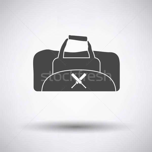 крикет сумку икона серый фон искусства Сток-фото © angelp