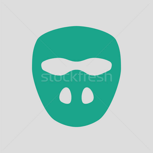 Cricket mask icon Stock photo © angelp