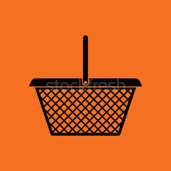 Stock photo: Supermarket shoping basket icon