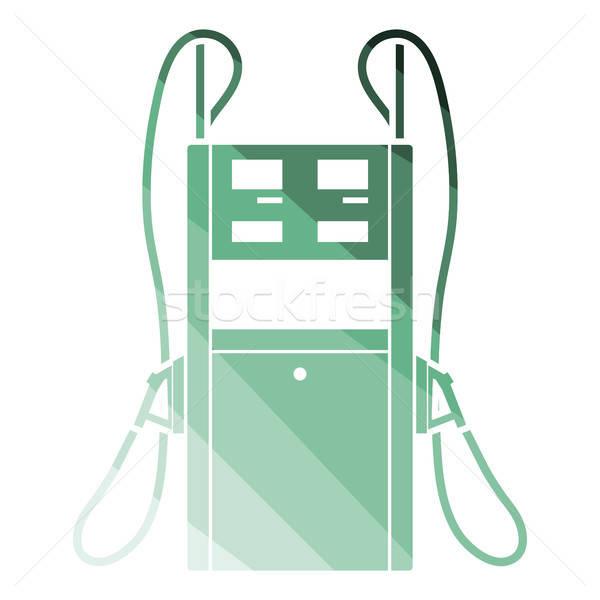 üzemanyag állomás ikon szín terv üzlet Stock fotó © angelp