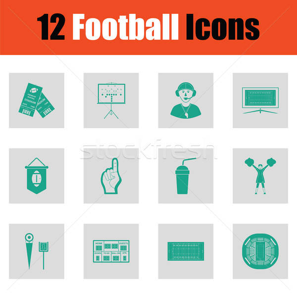 Stock photo: American football icon