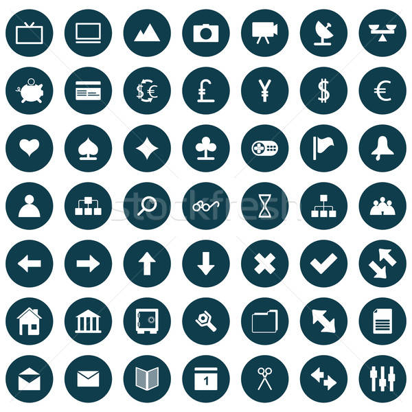 web icons set Stock photo © angelp