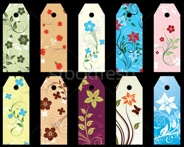 floral bookmark Stock photo © angelp