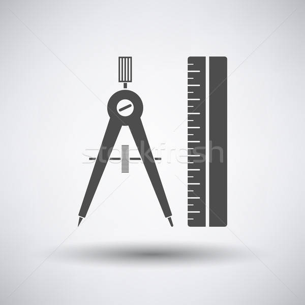 Compasses and scale icon  Stock photo © angelp