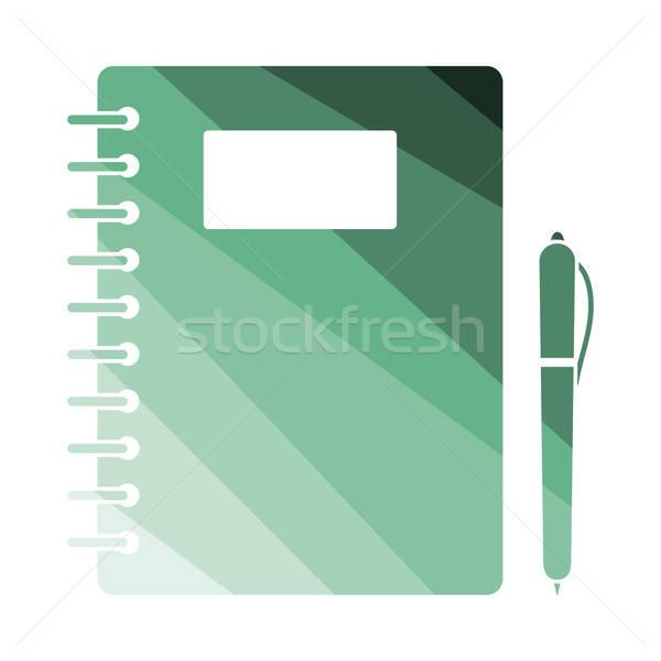 練習帳 ペン アイコン 色 デザイン 図書 ストックフォト © angelp