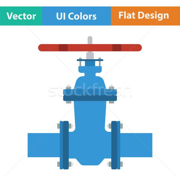 трубы клапан икона цвета дизайна бизнеса Сток-фото © angelp