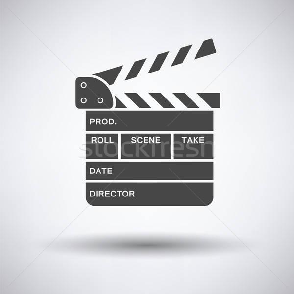 Movie clap board icon Stock photo © angelp