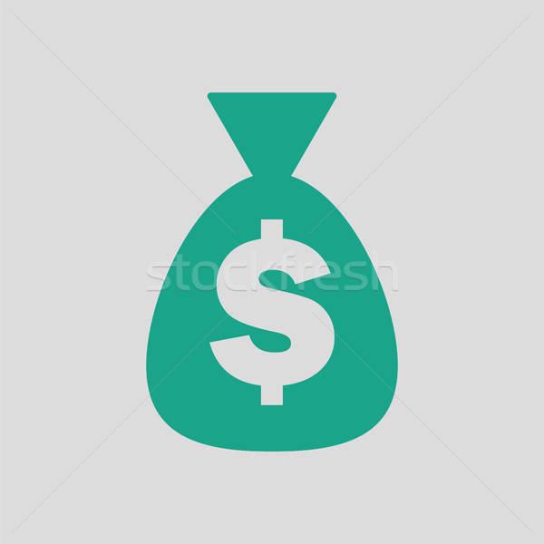 Money bag icon Stock photo © angelp