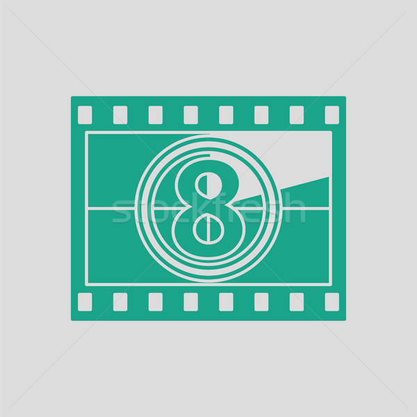 Película marco cuenta atrás icono gris verde Foto stock © angelp