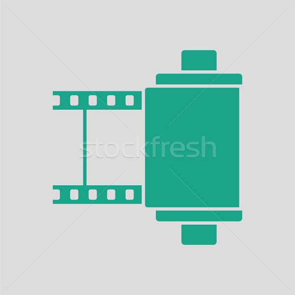Fotó patron tekercs ikon szürke zöld Stock fotó © angelp