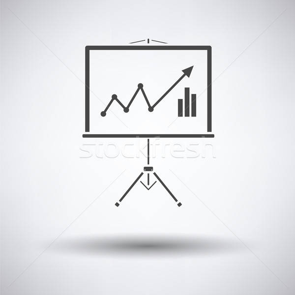Analytics stand icon Stock photo © angelp