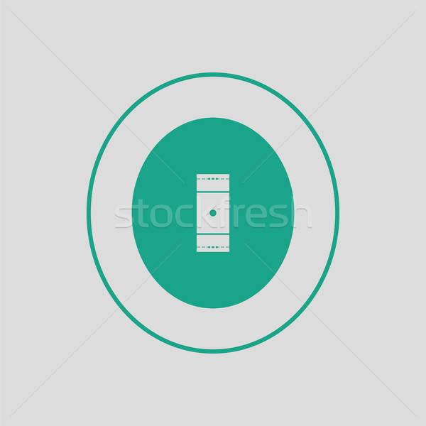 クリケット フィールド アイコン グレー 緑 芸術 ストックフォト © angelp