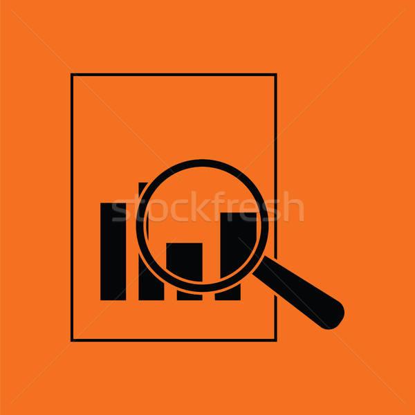 Magnífico vidro papel traçar ícone laranja Foto stock © angelp