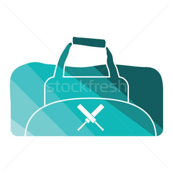 Kriket çanta ikon renk dizayn spor Stok fotoğraf © angelp
