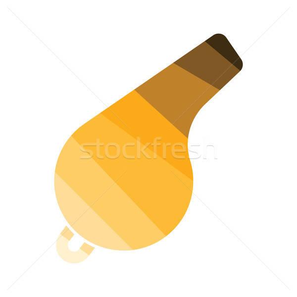 свистеть икона цвета дизайна Футбол спорт Сток-фото © angelp