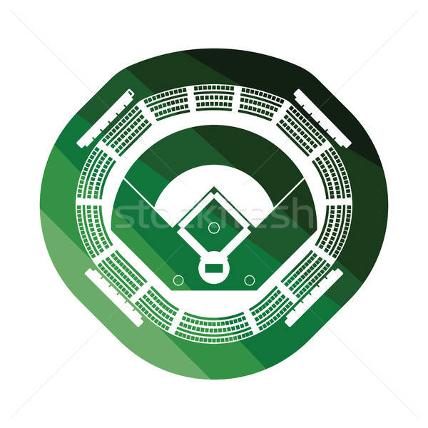 Baseball stadium icon Stock photo © angelp