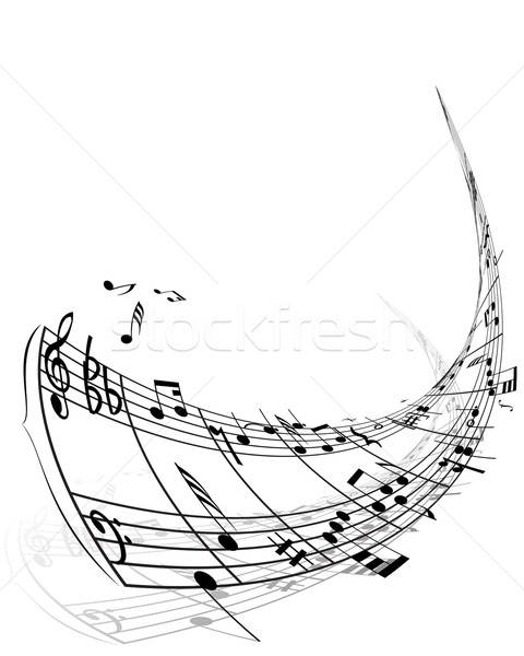 Musical notes stuff Stock photo © angelp