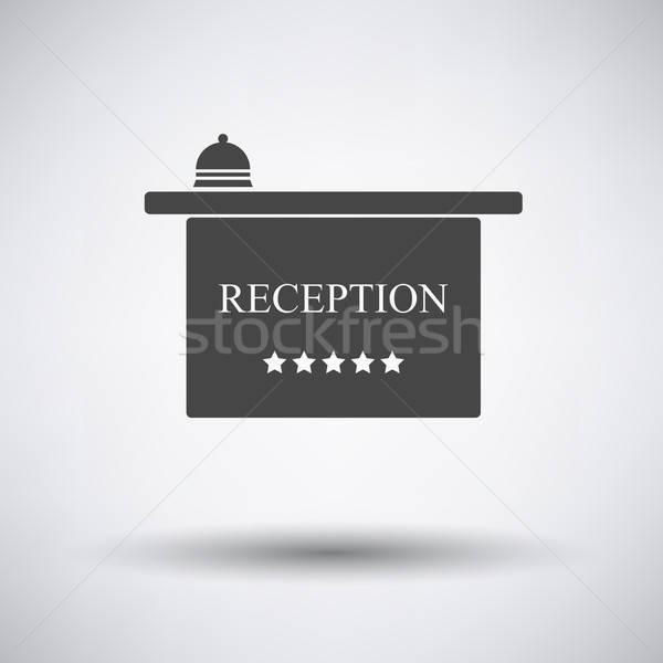 Hotel reception desk icon Stock photo © angelp