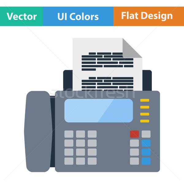Fax icône ordinateur papier internet technologie Photo stock © angelp