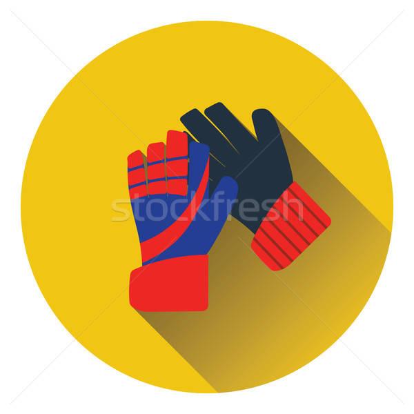 Icono fútbol portero guantes color diseno Foto stock © angelp