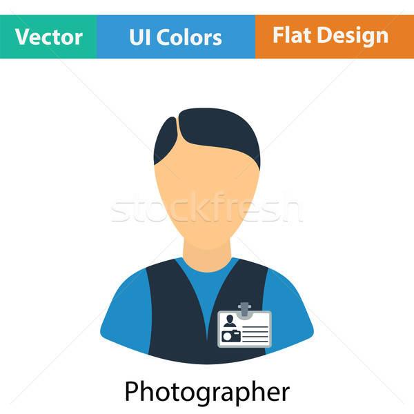 Icon of photographer Stock photo © angelp