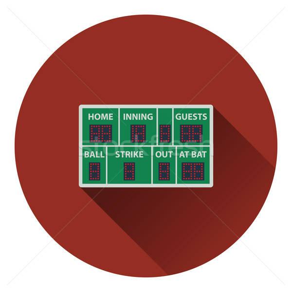 Baseball scorebord icon kleur ontwerp hemel Stockfoto © angelp