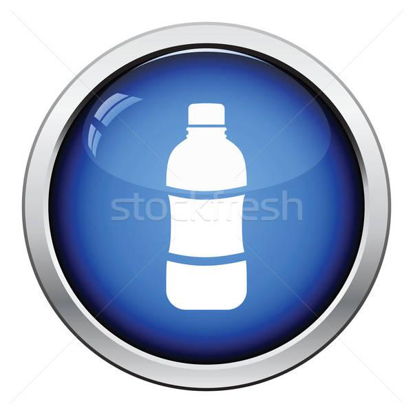 Une bouteille d'eau icône bouton design alimentaire Photo stock © angelp