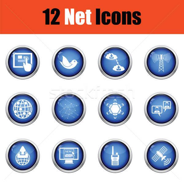 Communication icon set Stock photo © angelp