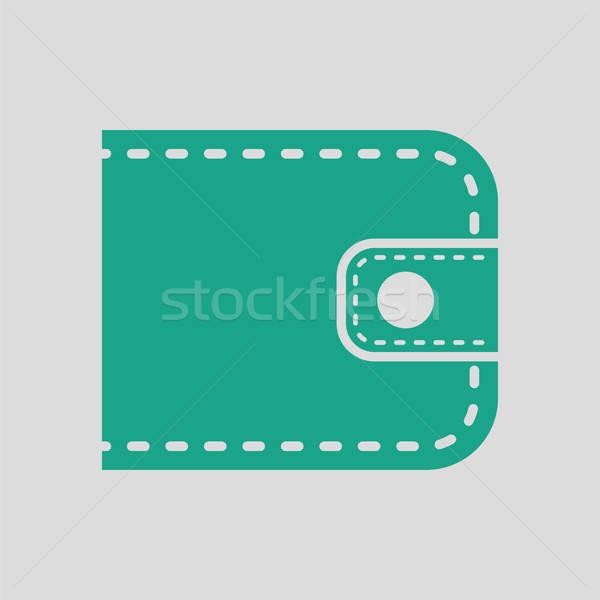 бумажник икона серый зеленый деньги магазин Сток-фото © angelp