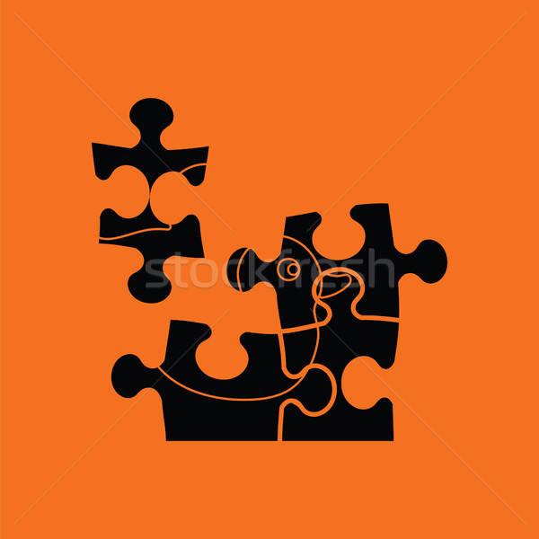 Baby puzzle ico Stock photo © angelp