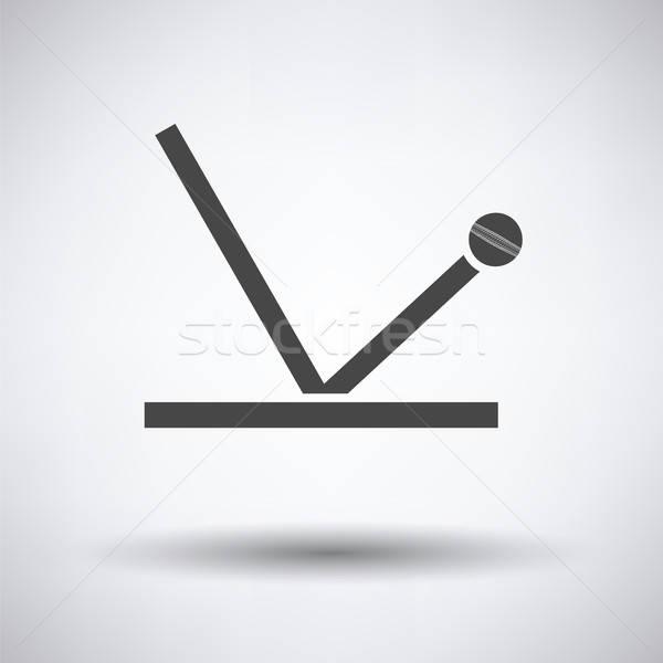 крикет мяча траектория икона серый спорт Сток-фото © angelp