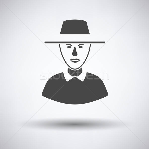 Cricket umpire icon Stock photo © angelp