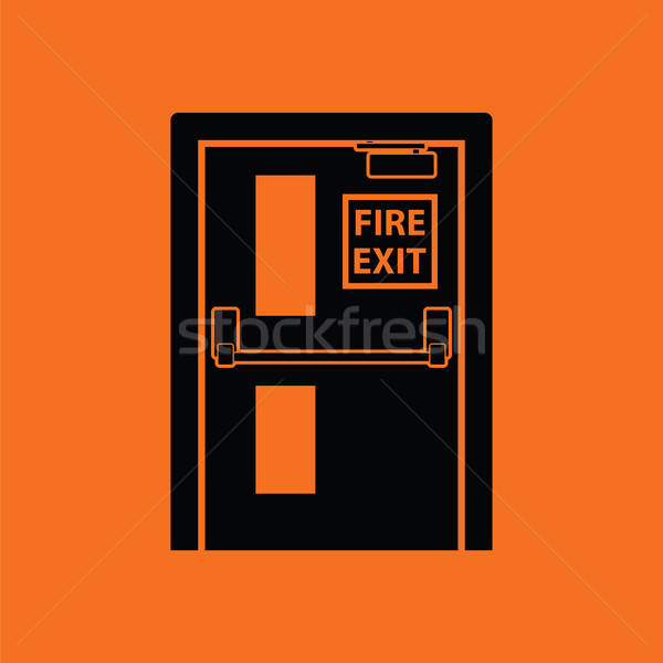Fire exit door icon Stock photo © angelp