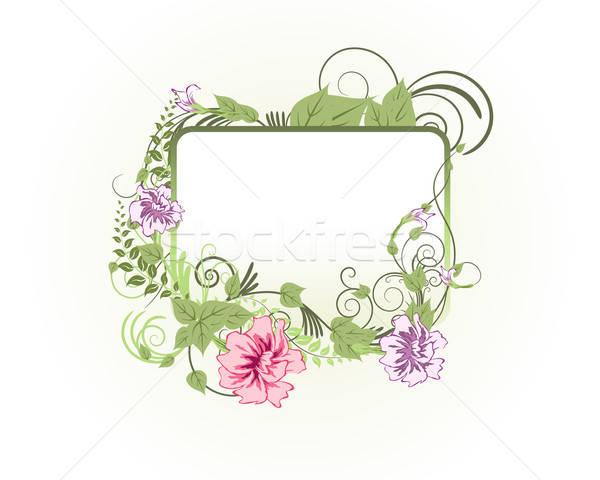 Zdjęcia stock: Kwiatowy · ramki · streszczenie · wektora · środowisk · kwiat