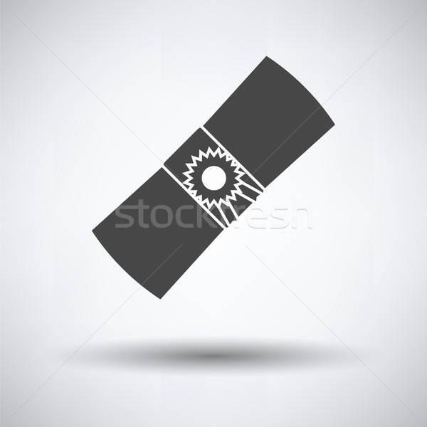Stockfoto: Diploma · icon · grijs · papier · achtergrond · onderwijs