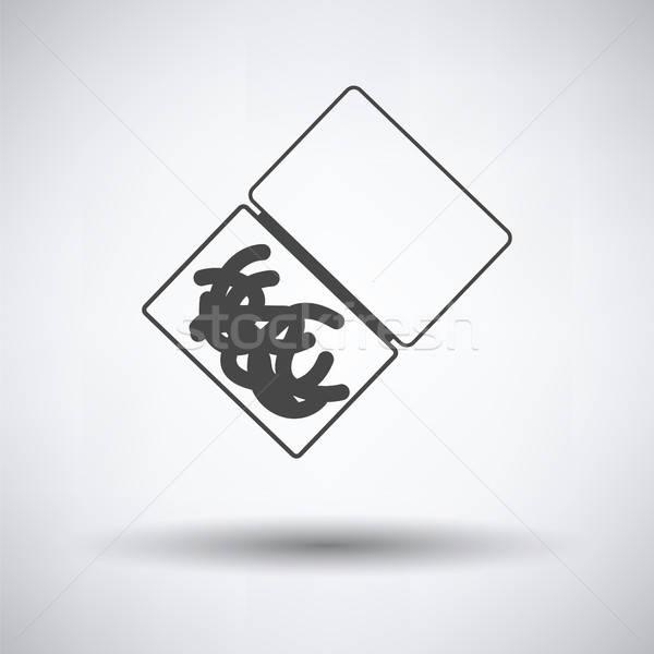 Icona worm contenitore grigio natura divertimento Foto d'archivio © angelp