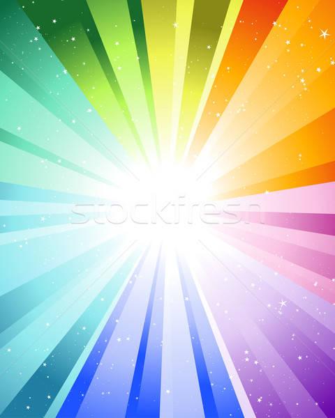 Culoare razele multe stele soare Imagine de stoc © angelp