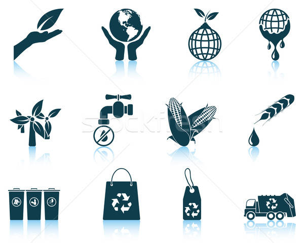 Set of ecological icons Stock photo © angelp