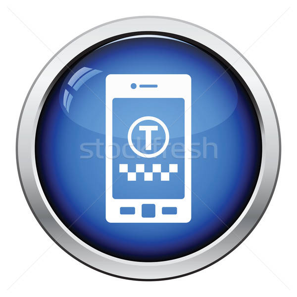 Taxi service mobile application icon Stock photo © angelp