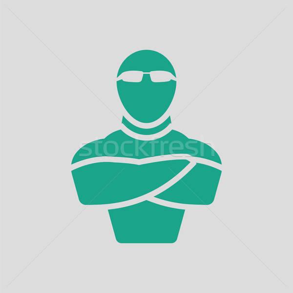 Klub nocny bezpieczeństwa ikona szary zielone działalności Zdjęcia stock © angelp