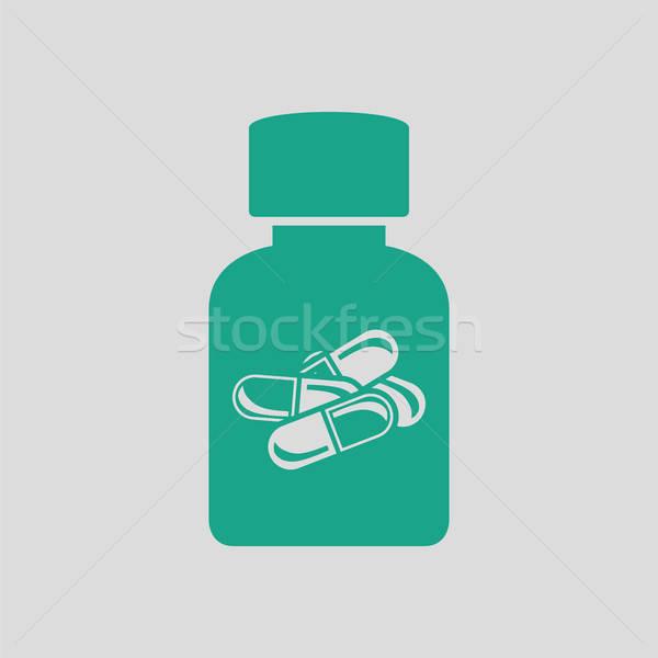 Pills bottle icon Stock photo © angelp
