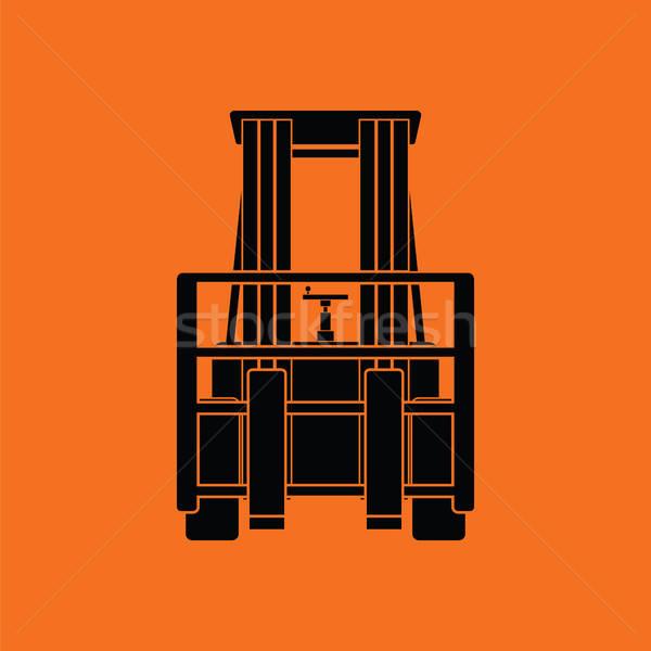 Almacén icono naranja negro negocios Foto stock © angelp