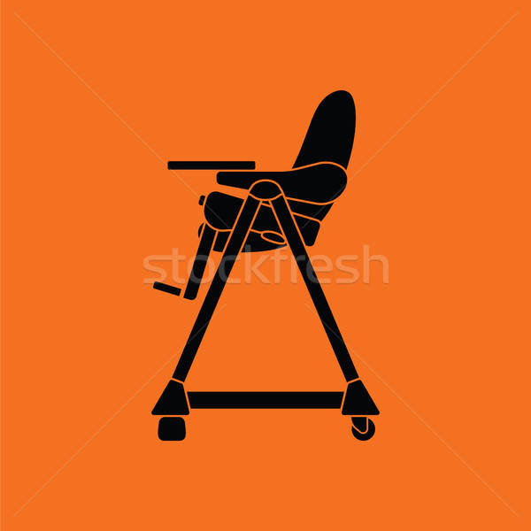 Baby high chair icon Stock photo © angelp
