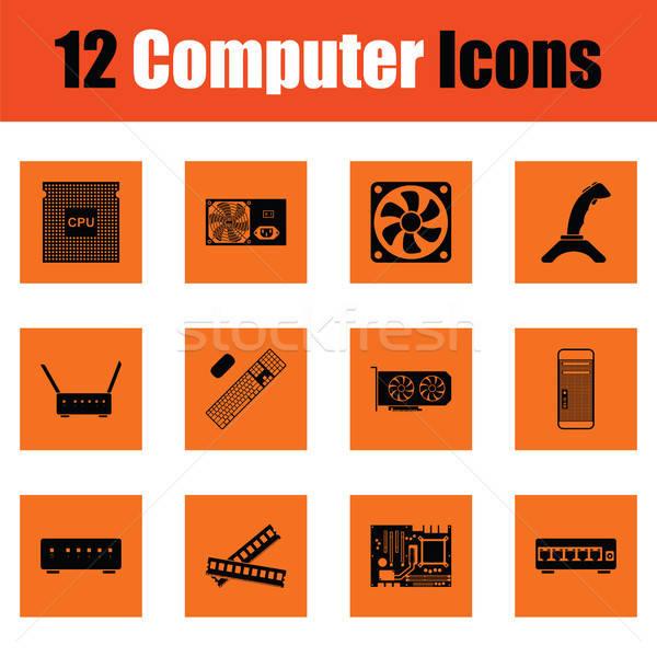Set of computer icons Stock photo © angelp