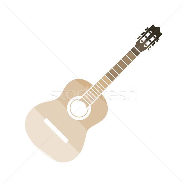 Guitare acoustique icône couleur design musique main Photo stock © angelp
