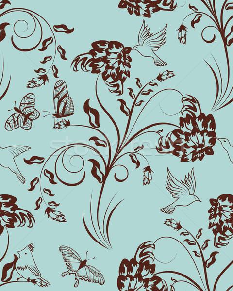 Naadloos patroon vector gemakkelijk Stockfoto © angelp