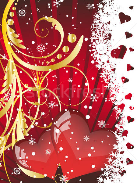 St. Valentine's day card Stock photo © angelp