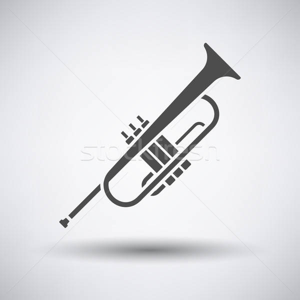 Horn icon Stock photo © angelp