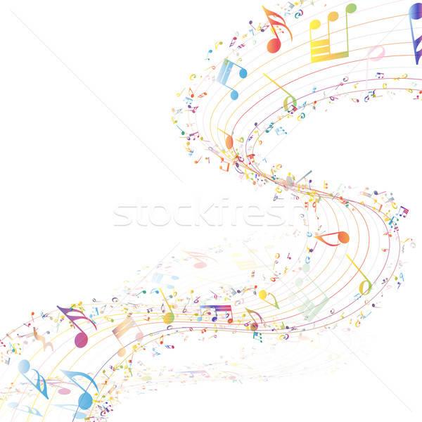 Musical design musique personnel Photo stock © angelp