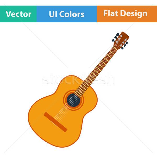 дизайна икона ui цветами музыку Сток-фото © angelp
